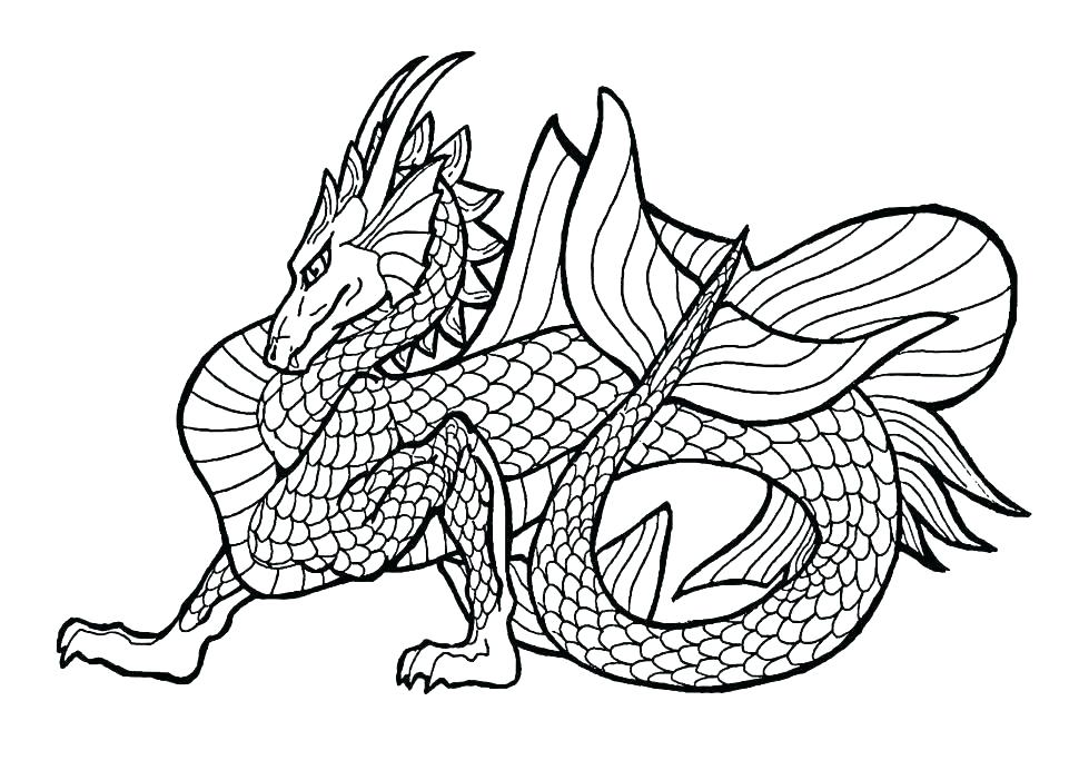 970x692 Printable Dragon Coloring Pages Dragon Coloring Pages Free