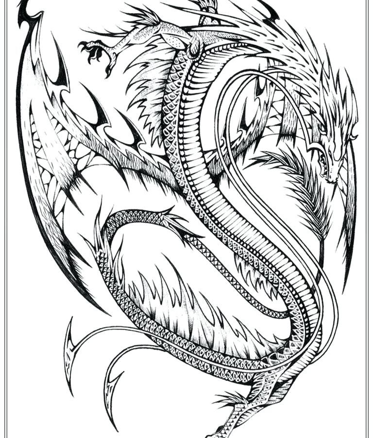768x900 Real Dragon Coloring Pages Adult Simple Dragon Coloring Pages