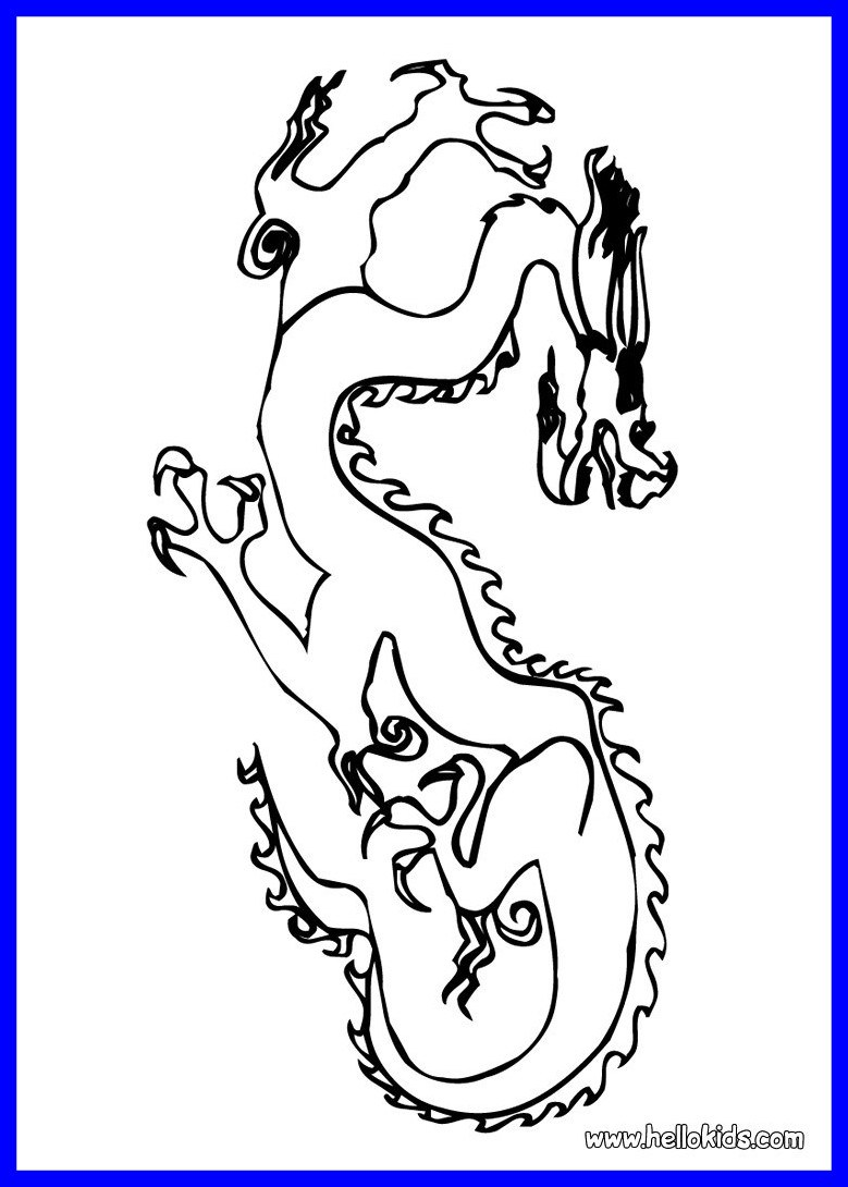 779x1090 The Best Chinese Dragon Coloring Pages Hellokids Picture Of New