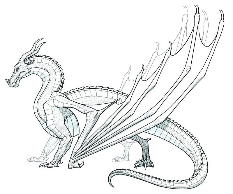 800x668 Chinese Dragon Coloring Pages