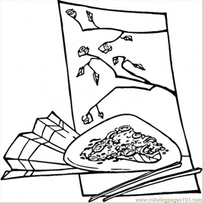 650x651 Chinese Food Coloring Page