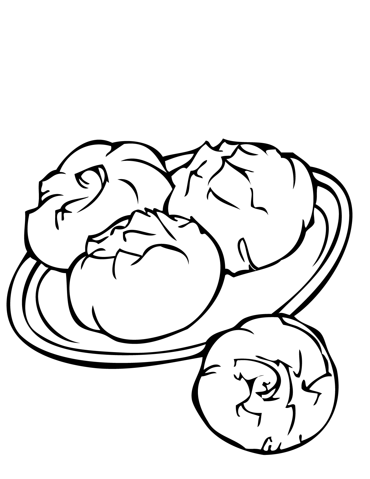 1275x1650 Chinese Food Coloring Pages