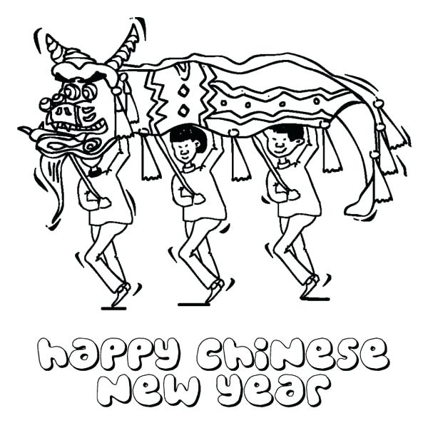 600x600 Chinese Food Coloring Pages New Year With Dragon Festival Coloring
