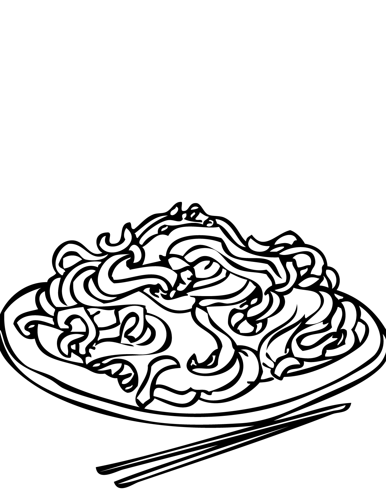 1275x1650 Chow Mein Coloring Page