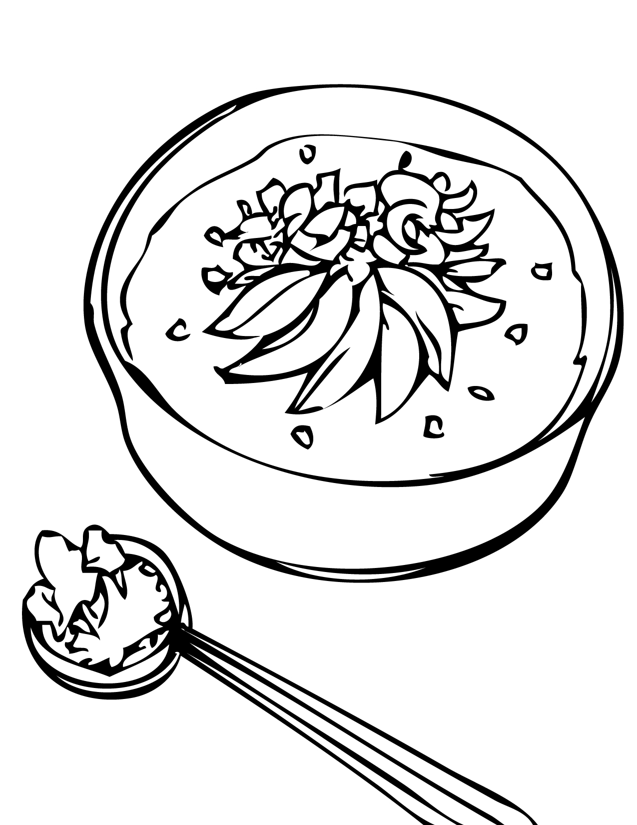 1275x1650 Delicious Food Coloring Pages For Kids