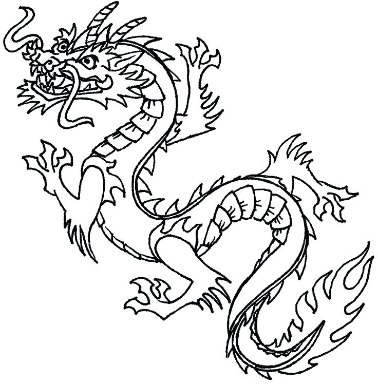 736x748 Superb Inspiring Chinese Food Coloring Pages Best Of Dragon Clip