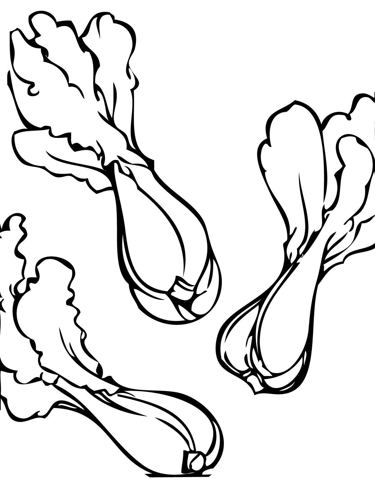 1275x1650 Bokchoy Coloring Page