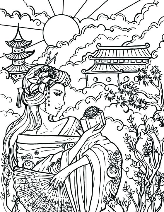 560x724 Chinese Coloring Pages Coloring Pages As Girl Small Astrology