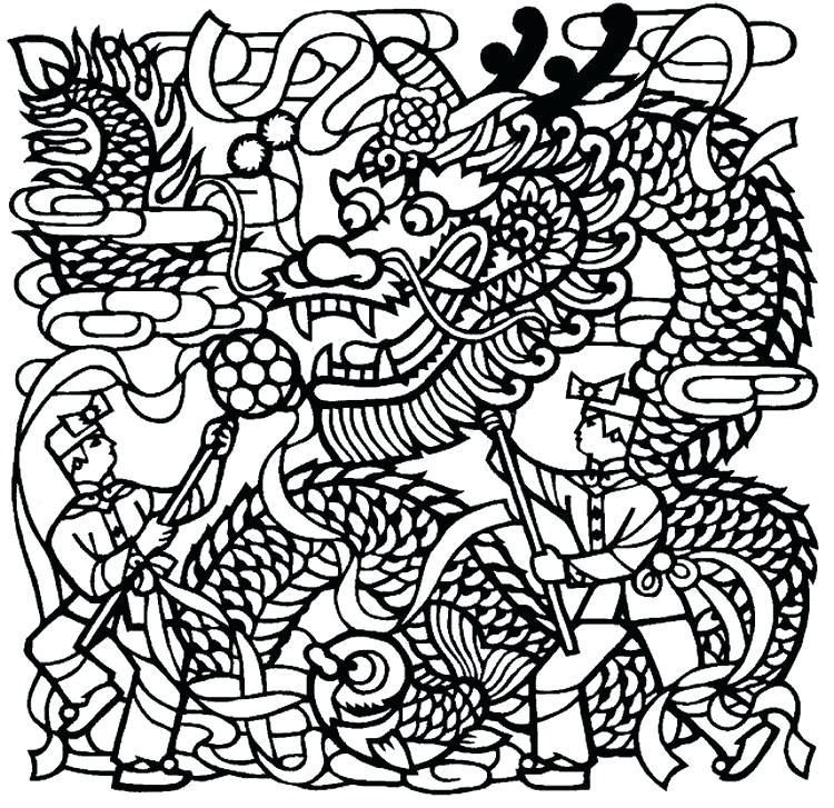 750x727 Chinese Coloring Pages New Year Zodiac Animals Colouring Pages