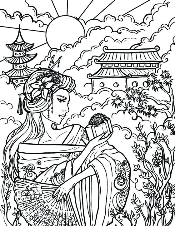 560x724 Chinese Coloring Pages Printable Coloring Page