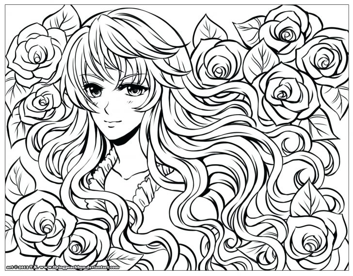 728x568 Female Chinese Dragon Coloring Pages For Adults Online Manga Anime
