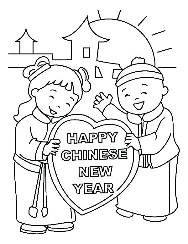 600x776 Guaranteed Chinese New Year Coloring Sheets This Boy And Girl Say