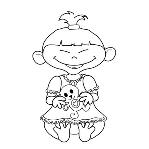 300x300 Multicultural Coloring Pages
