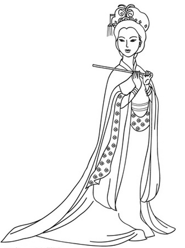 600x804 Barbie Coloring Pages Chinese China Barbie Coloring Pages