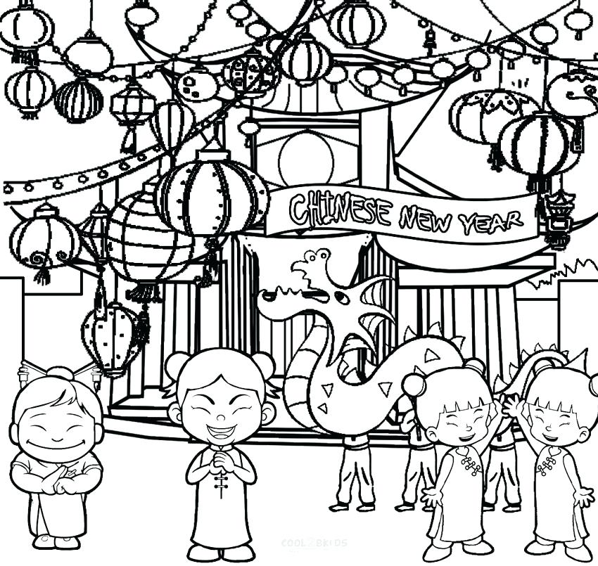 850x805 Chinese Lantern Coloring Page New Year Coloring Pages New Year