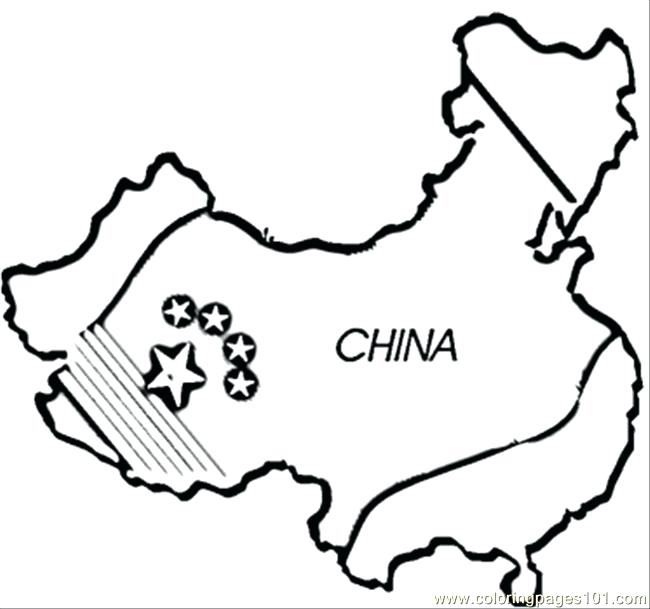 650x609 Chinese Coloring Pages Map Coloring Page Chinese Characters