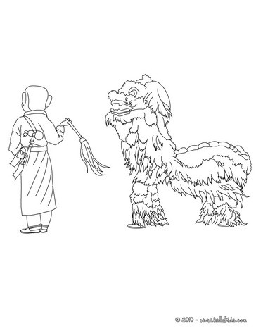 364x470 Chinese New Year Coloring Pages
