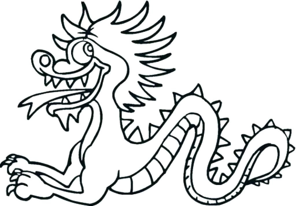 1024x712 New Year Dragon Coloring Page New Year Dragon Coloring Page New