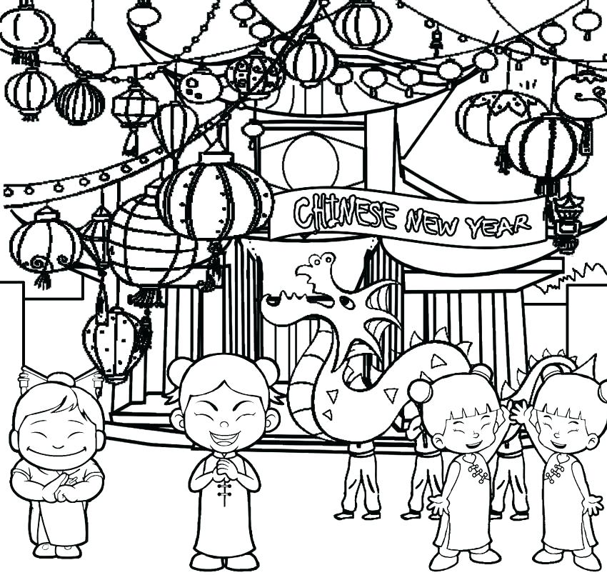 Chinese New Year Zodiac Coloring Pages