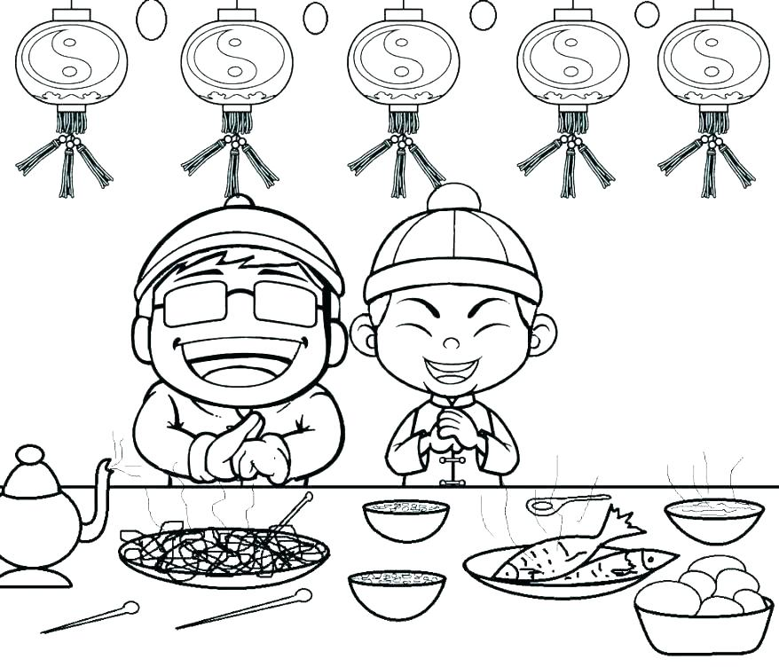 878x752 Chinese New Year Coloring Pages Sheep Coloring Page New Year