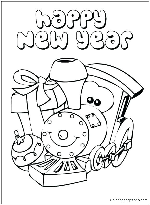 577x790 New Year Coloring Page New Years Coloring Sheets Happy New Year