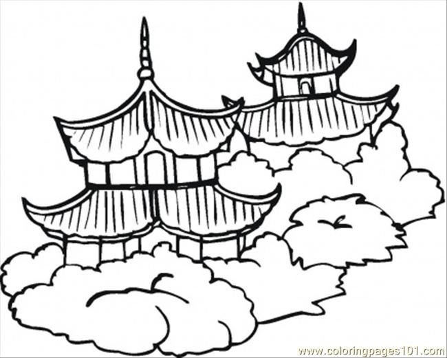 650x521 Chinese Coloring Pages Coloring Pages Pagodas