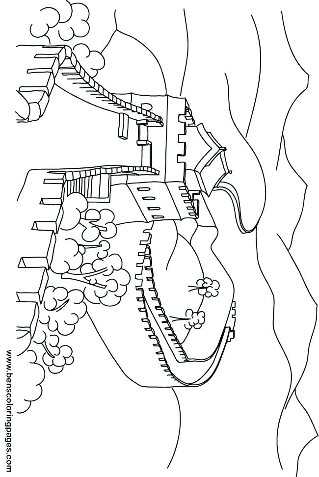 650x972 Colorful Great Wall Of China Coloring Page Luxury Chinese Pages