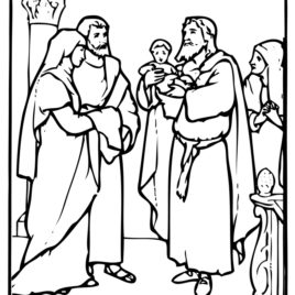 268x268 Coloring Pages Baby Jesus In The Temple Archives