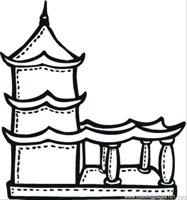 650x697 Buddha Coloring Page