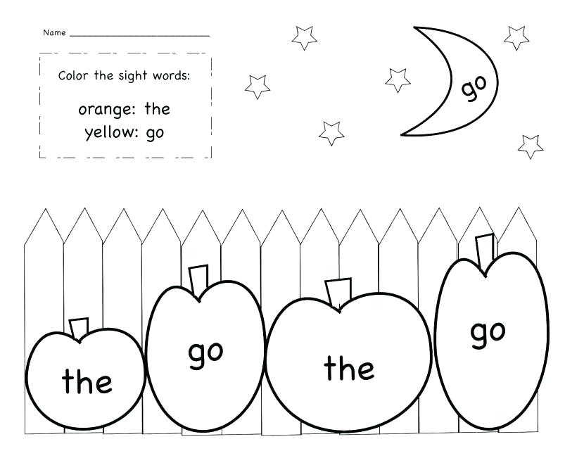 830x641 Sight Word Coloring Page Sight Word Coloring Page Sight Word