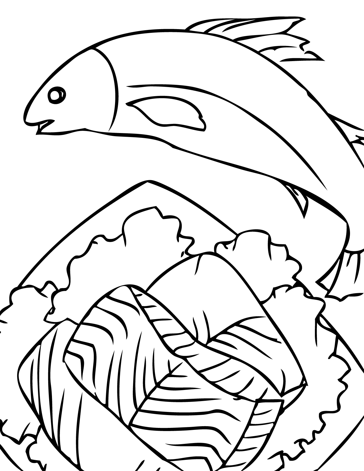 1275x1650 A Ordable Chinook Salmon Coloring Page Handipoints