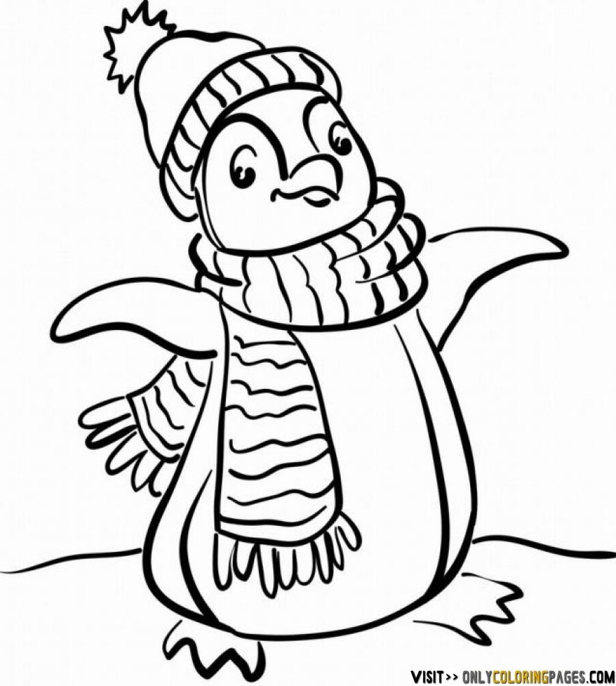 900x1002 Unique Penguin Coloring Pages On Coloring For Kids With Penguin