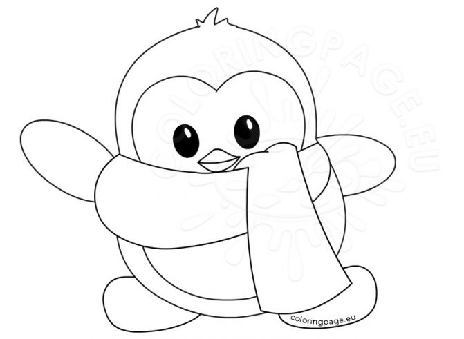 671x491 Coloring Pages Endearing Coloring Page Penguin Penguins Lovely