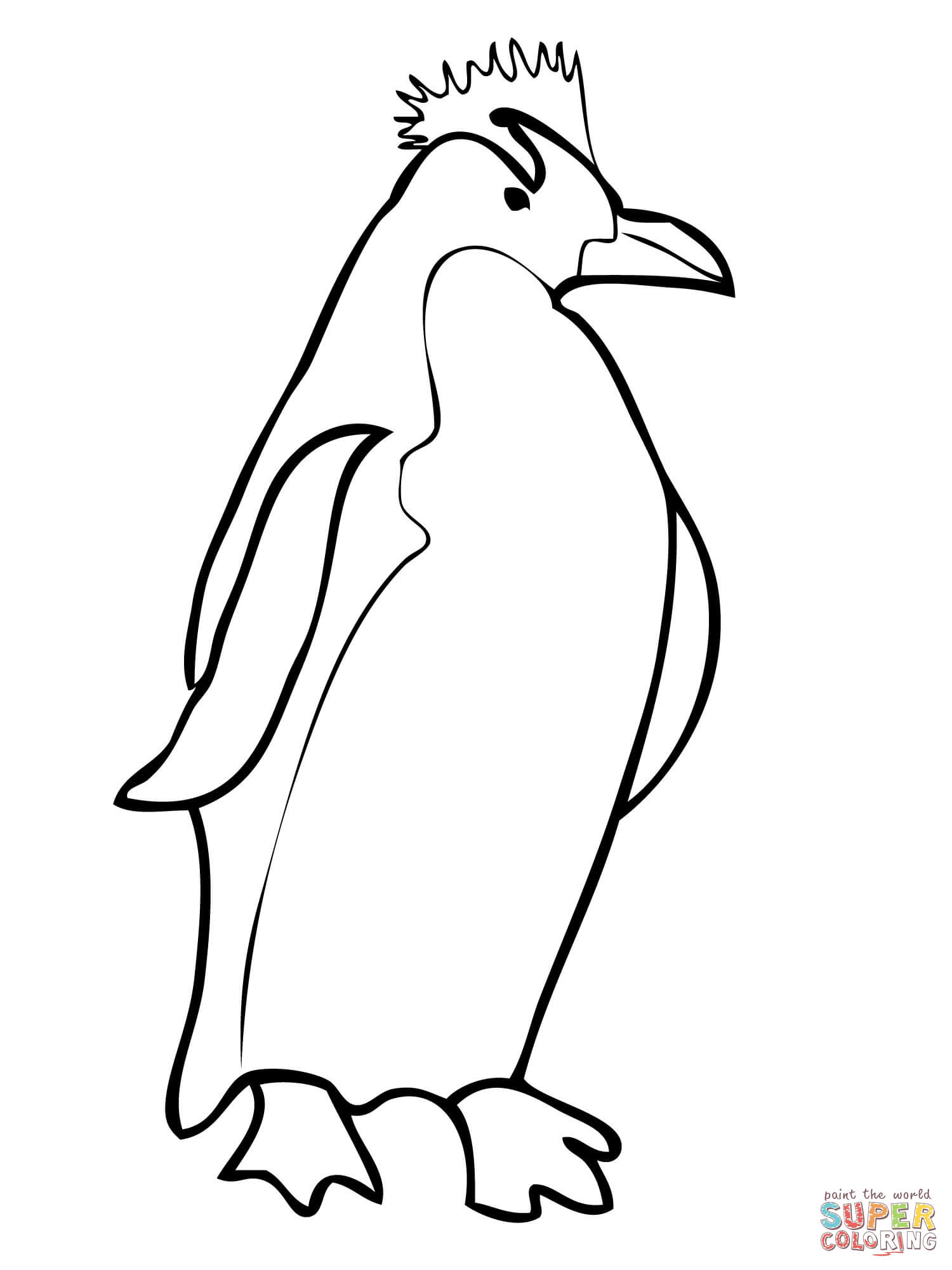 1500x2000 Coloring Pictures Of Penguins Showy Penguin To Color