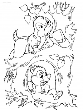 266x350 Free Printable Chip And Dale Coloring Pages Coloring Pages