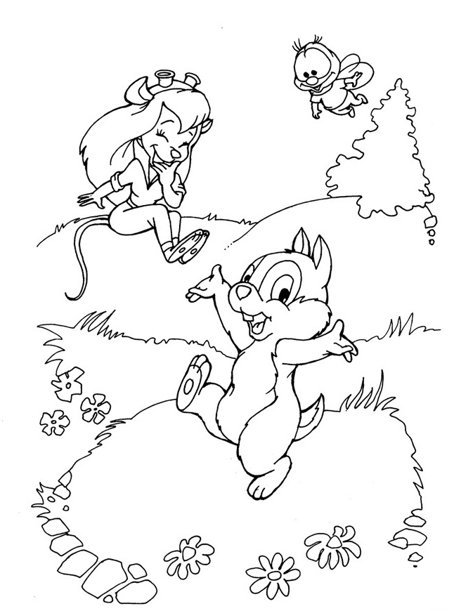 646x870 Kids N Coloring Pages Of Chip And Dale