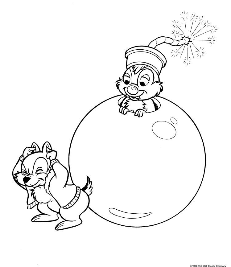749x866 Chip And Dale Coloring