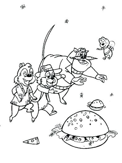 394x525 Chip And Dale Coloring Pages