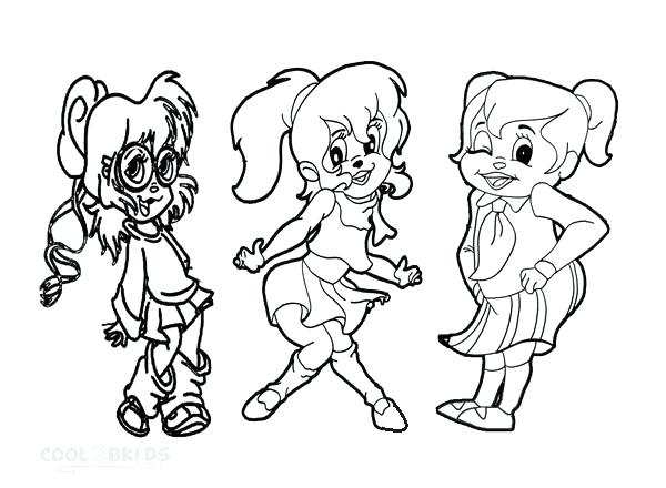 600x440 Chipettes Coloring Pages Coloring Pages Chipettes Colouring Pages