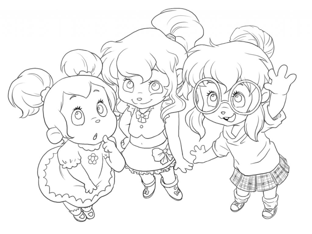 1024x768 Eleanor Chipette Coloring Pages Chipettes Kids Of General