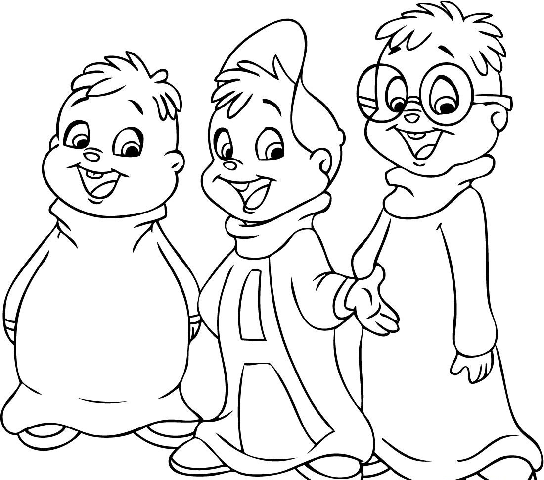 1100x969 Free Printable Chipettes Coloring Pages For Kids