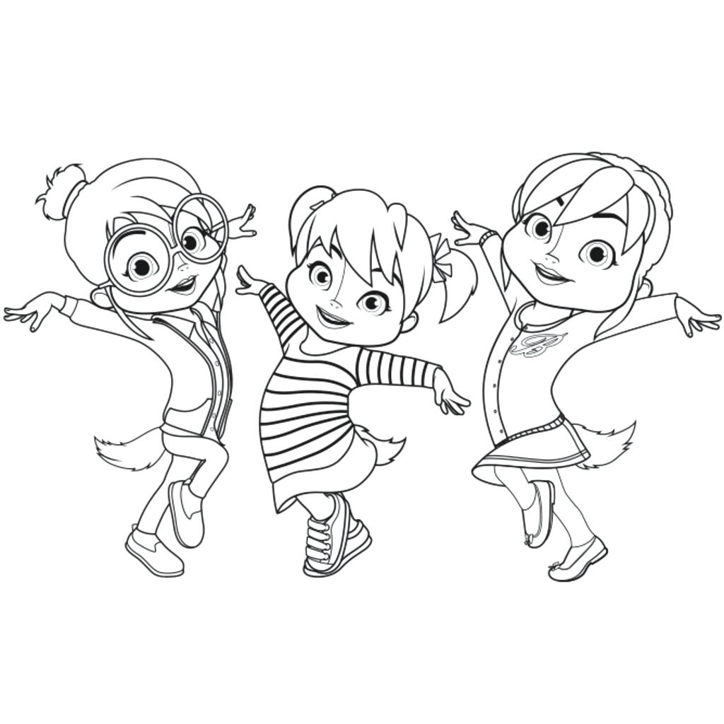 1024x1024 Alvin And The Chipmunks Coloring Page With Pages Chipettes