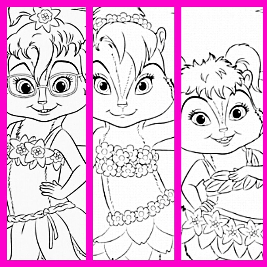 894x894 Greatest Chipettes Coloring Pages To Print Printable Free Download