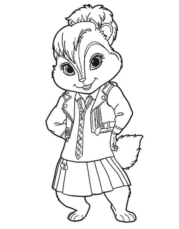 600x768 Lovely Brittany The Chipettes Coloring Page