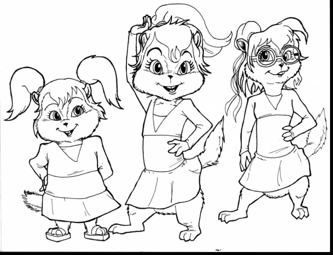 1126x862 Marvelous Chipettes Coloring Pages For Girls With Alvin