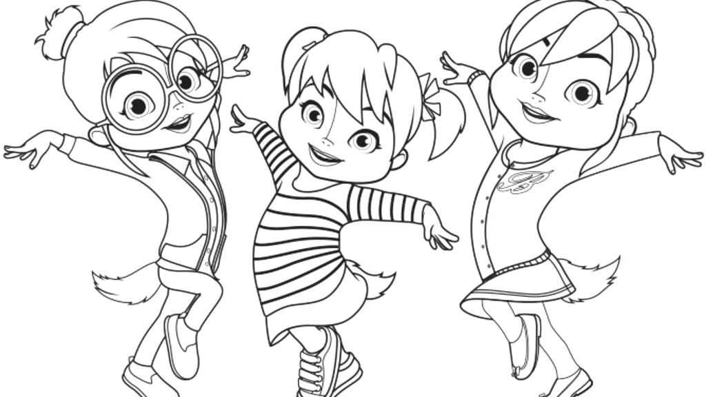 alvin and the chipmunks coloring pages jeanette miller ... | 576x1024