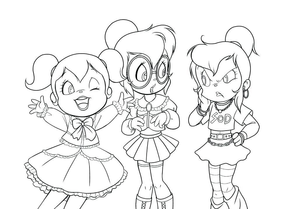 1012x717 The Chipettes Coloring Pages Free Chipmunks And Printable Coloring