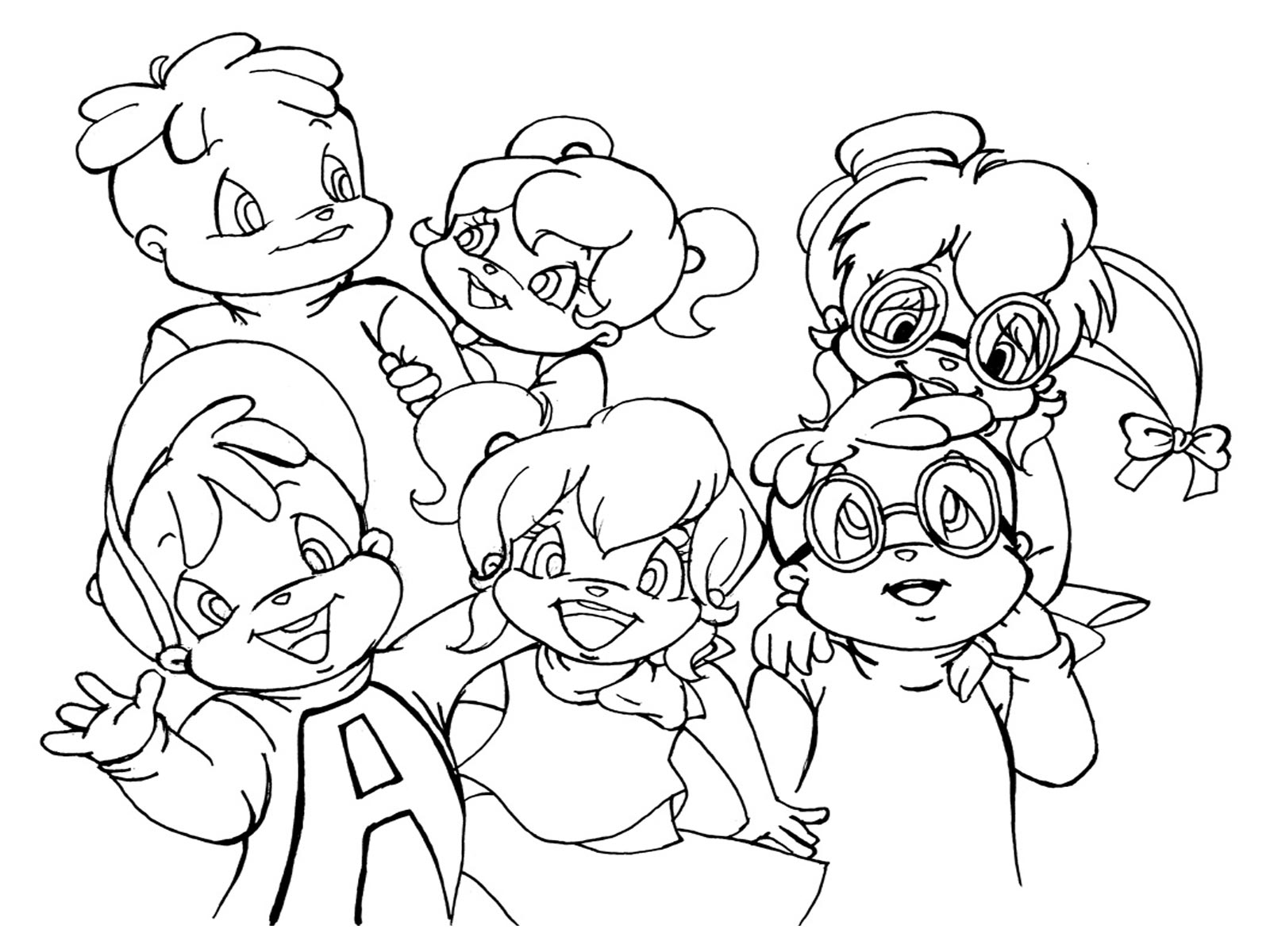 1600x1200 Free Printable Chipettes Coloring Pages For Kids The Chipettes