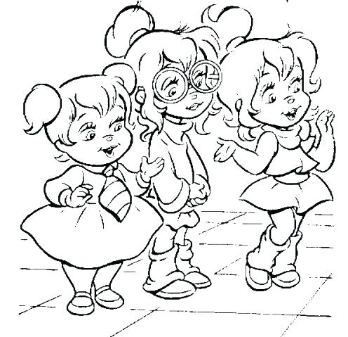 496x479 The Chipettes Coloring Pages