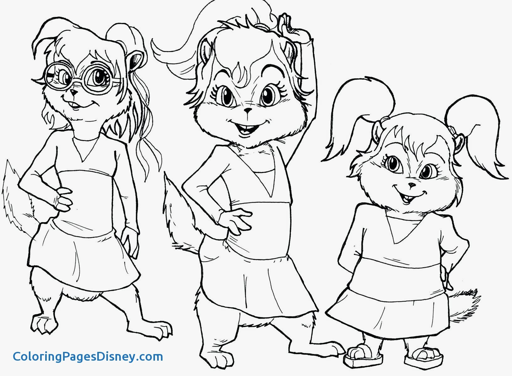 1632x1200 Alvin And The Chipmunks Coloring Pages Luxury The Chipettes